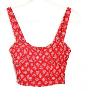 Band of Gypsies flower crop top size s